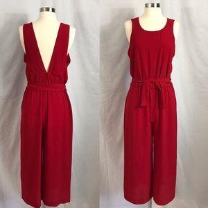 Euc✨ZARA Red Jumpsuit Large